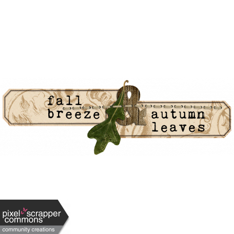Simply Autumn - Wordart 2