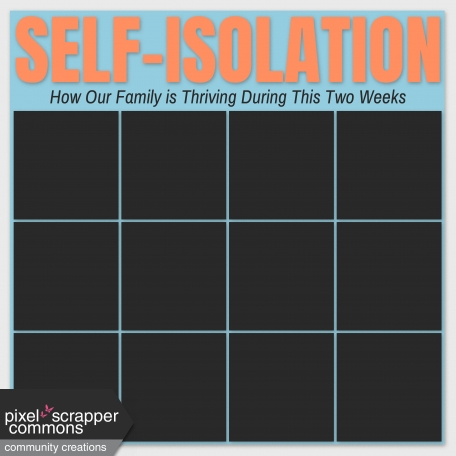 Self-Isolation Social Distancing Layout Template