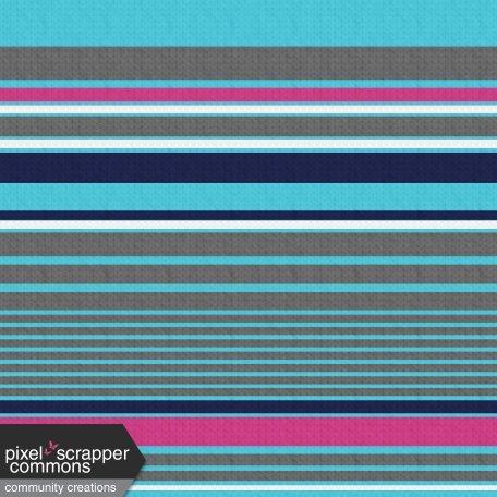 My Life Palette - Knit Turquoise/Multi Striped Paper