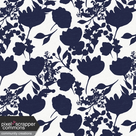 My Life Palette - White/Navy Floral Silhouette Paper
