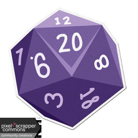My Life Palette - Dice Sticker (Purple 20)