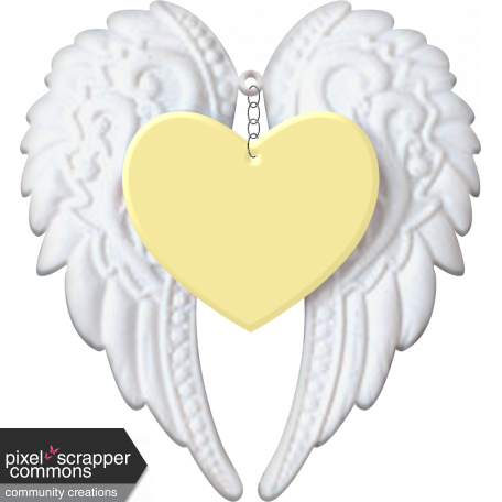 Baby Angel Wings Heart Yellow Graphic By Kayl Turesson Pixel