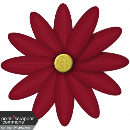 Project Life November Flower 1 Red Graphic By Jody Smith Pixel