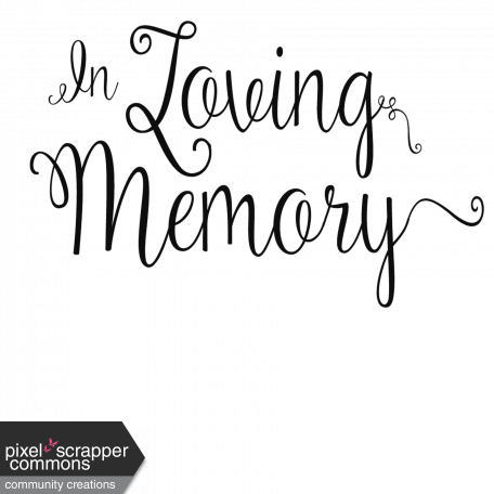 remembrance word art in loving memory graphic by nellie bell