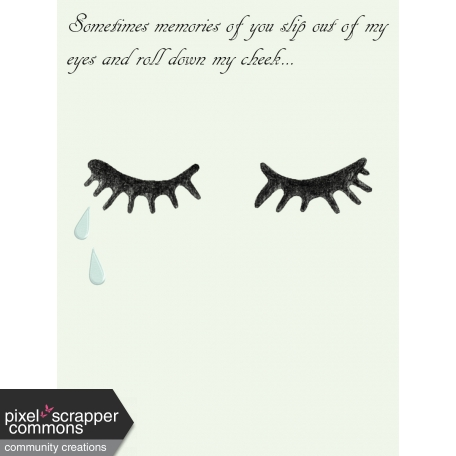 Remembrance Journal Card -Memories of you