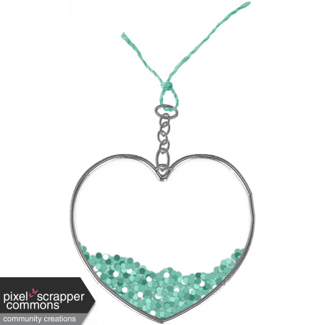 Winter In The Tropics - Heart Charm 3