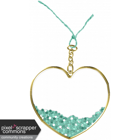 Winter In The Tropics - Heart Charm 4