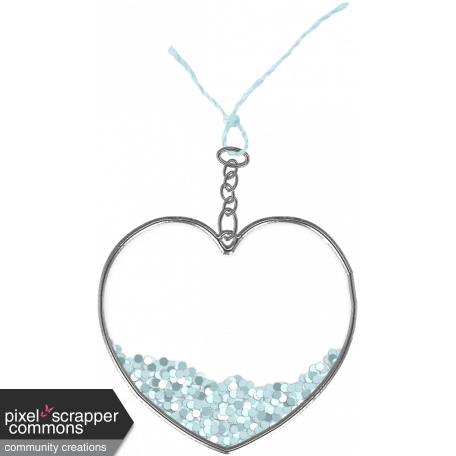 Winter In The Tropics - Heart Charm 10
