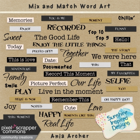 Mix and Match - Word Art