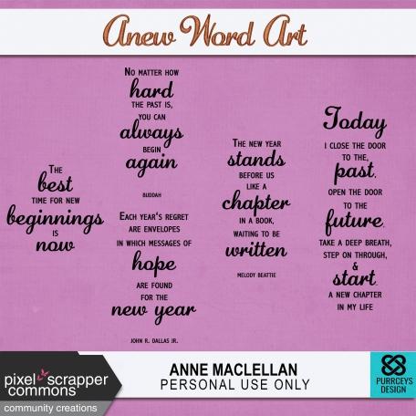 Anew Word Art