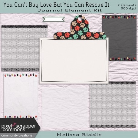 You Can't Buy Love Buy You Can Rescue It - Journaling Element Kit