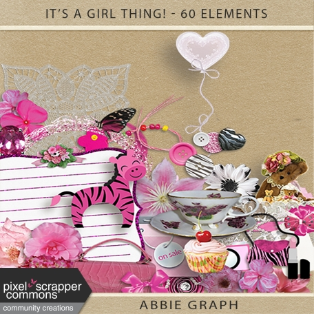 It's A Girl Thing! - Embellishments Kit
