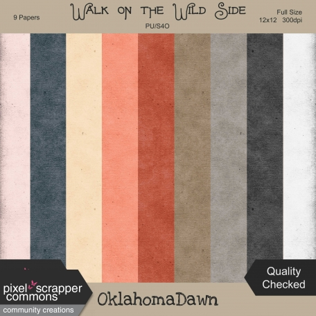 Walk on the Wild Side - solid grunge/texture papers