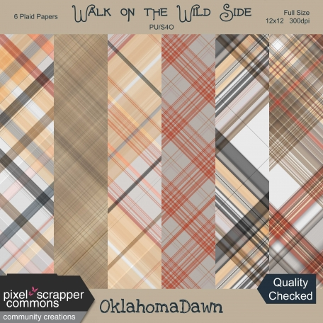 Walk on the Wild Side - plaid papers