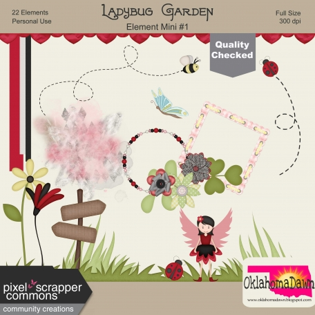 Ladybug Garden - Elements Mini Kit #1