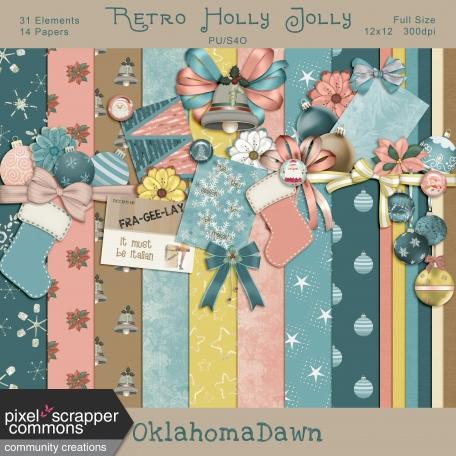 Retro Holly Jolly - Pink/Blue Mini Kit