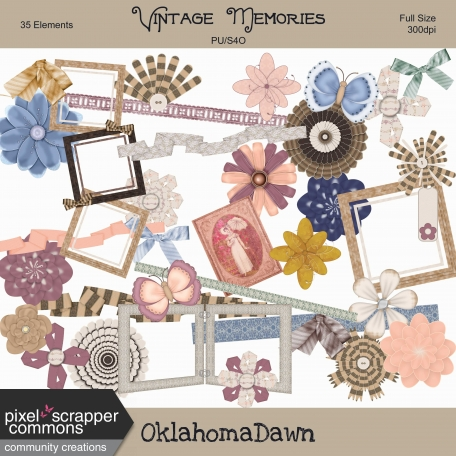 Vintage Memories - Elements Kit