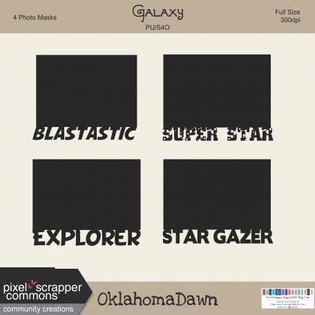 August 2020 Blog Train - Galaxy, Photo Masks
