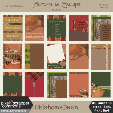 Autumn is Calling - pocket journal cards