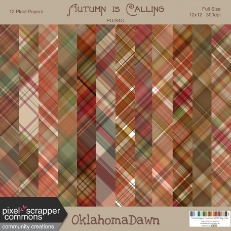 Autumn is Calling - plaid papers