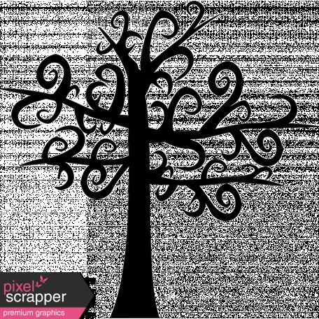 No Tricks, Just Treats - Swirly Tree Stamp