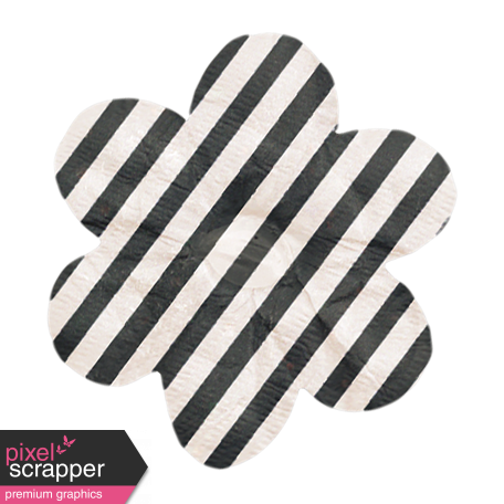No Tricks, Just Treats - Black and White Striped Flower