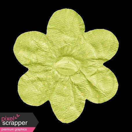 No Tricks, Just Treats - Green Solid Flower