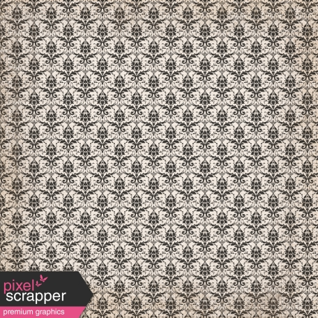 No Tricks, Just Treats - Black & White Damask Paper