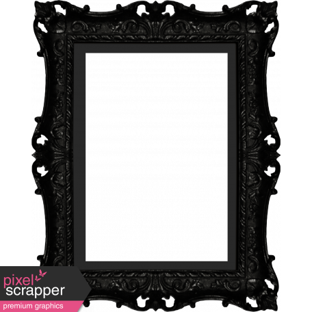 No Tricks, Just Treats - Black Ornate Frame