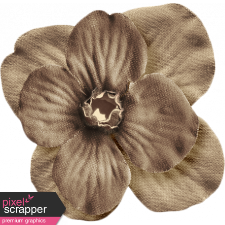 No Tricks, Just Treats - Solid Brown Flower