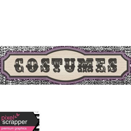 "No Tricks, Just Treats - ""Costumes"" Tag"