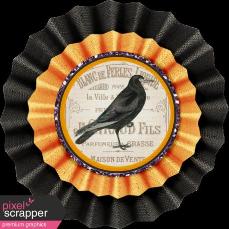 No Tricks, Just Treats-Crow Accordion Burlap Flower