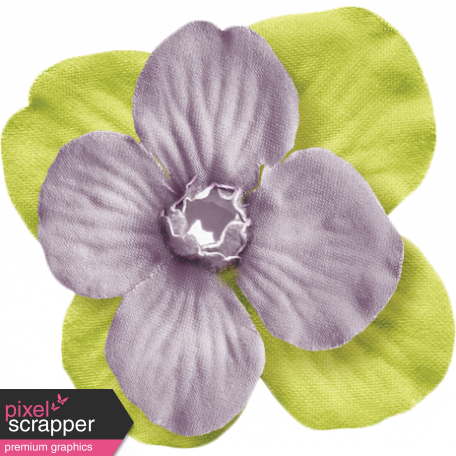No Tricks, Just Treats- Purple And Green Flower