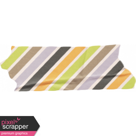 No Tricks, Just Treats-Multi Colored Striped Tape