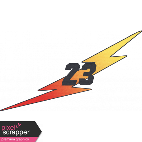 "Speed Zone Elements Kit - ""23"" Lightning Bolt"