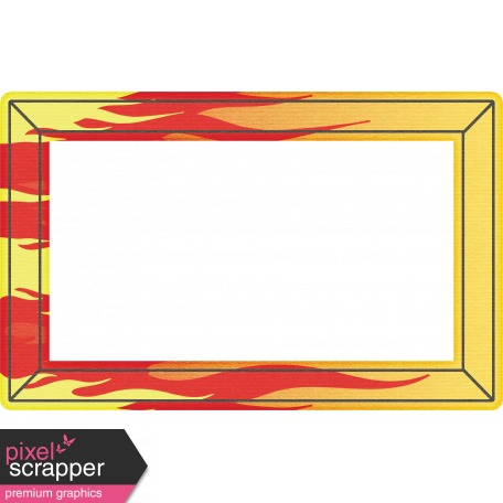 Speed Zone Elements Kit - Flames Photo Frame