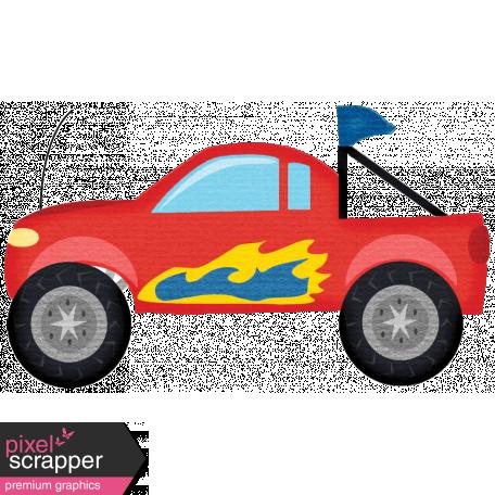 Speed Zone - Race Truck Sticker