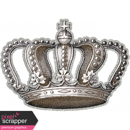 My Baptism - Silver Crown Sticker