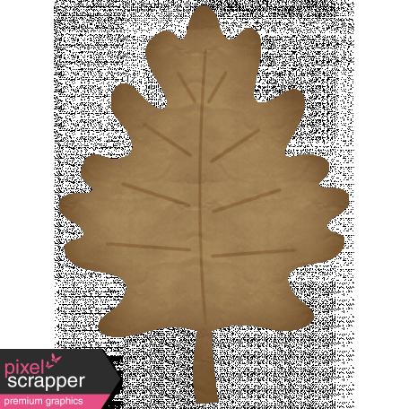 Turkey Time Elements Kit - Brown Paper Leaf