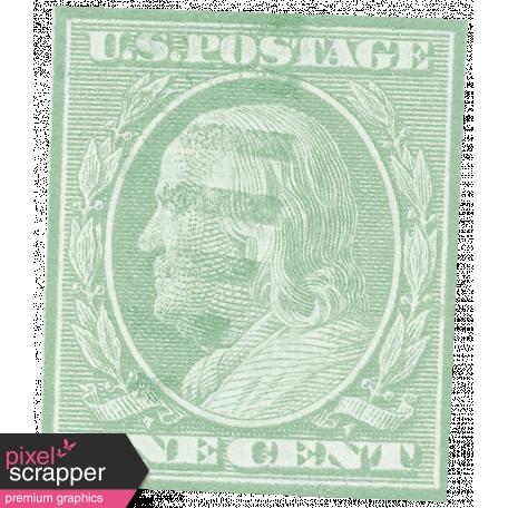Vintage - November Blogtrain Teal Stamp