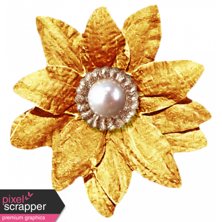 It's Christmas - Gold Flower