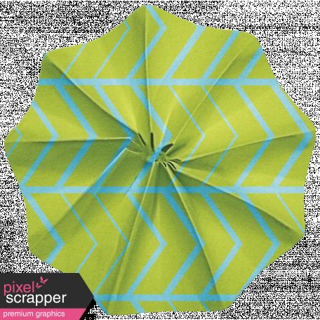 Lil Monster - Blue & Green Accordian Paper Flower