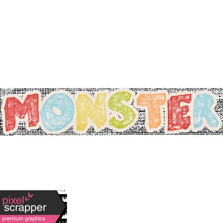 Lil Monster - Monster Wordart