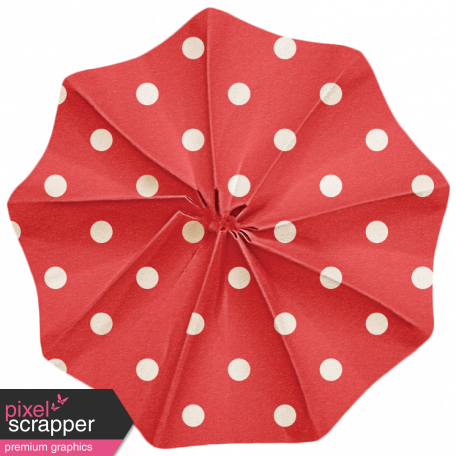 Lil Monster - Red Polkadot Accordian Paper Flower
