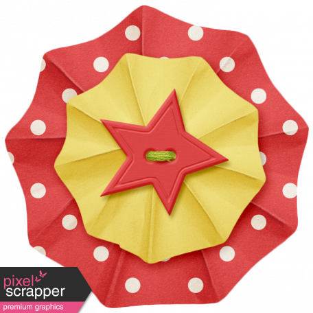 Lil Monster - Red & Yellow Accordian Paper Flower
