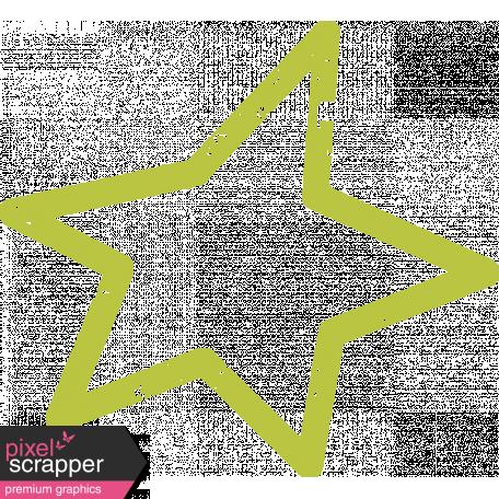 Lil Monster Star Outline Stamp