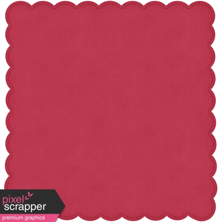 Be Mine Red Scalloped Paper