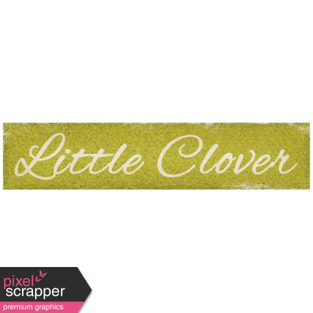 "Oh Lucky Day - ""Little Clover"" Tag"