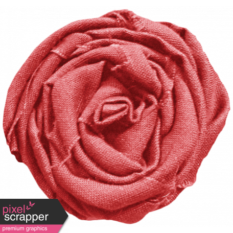 I Love You Mom - Red Fabric Rose