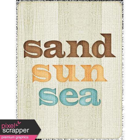 "At The Beach - ""Sand Sun Sea"" Journal Card"